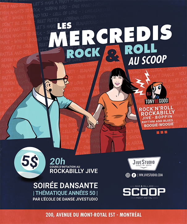 Les mercredi rock n roll au SCOOP Mont-Royal