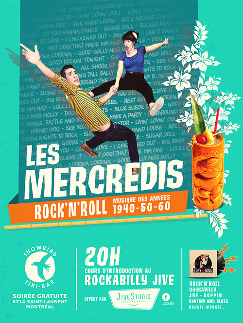 Les mercredi rock n roll au Snowbird Tiki Bar